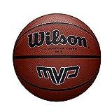 Wilson Ballon Basketball Extérieur, Surface Rugueuse, Asphalte, Granuleuse, Sol synthétique, Taille 6, De 8 à 12 ans, MVP, Brun...