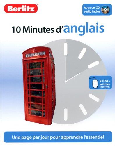 10 Minutes d'Anglais, Méthode de langue pour apprendre rapidement, avec CD audio.