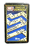 M.Y 28Pc Dominoes Double Six Game In Tin Box