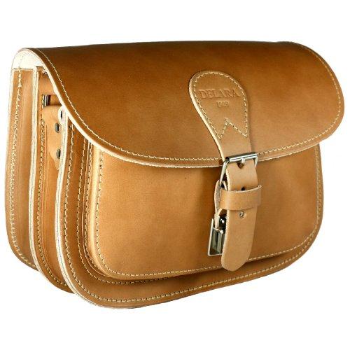 DELARA sac de chasse en cuir - Fabriqué en Allemagne, coleur: Marron