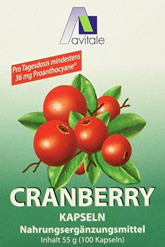 Avitale Cranberry Kapseln 400 mg, 100 Stück, 1er Pack (1 x 55 g)