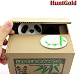 HuntGold Cute Panda Stealing Coins Cents Penny Buck Saving Money Box Pot Case Piggy Bank(pack of one)