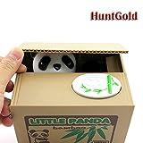HuntGold süße Panda stehlen Münzen Cents Penny Buck Einsparung Kasten Pot Sparschwein(Packung mit ein Stk)