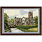 Brigantia Needlework Fountains Abbey Tapestry Picture Kit in Tent Stitch