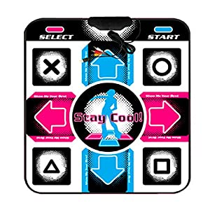 USB RCA Non-Slip Dancing Step Dance Mat Pad for PC TV AV Video Game by YiXuan