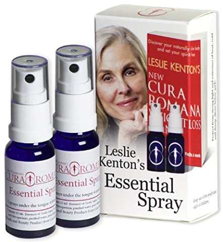 Leslie Kenton's Cura Romana Essential Spray for Natural, Safe, No-Hunger Weight Loss, Internal Cleansing, and Radiant Health. This Product is the Celebrated Companion For Use With Leslie Kenton's New Cura Romana Weightloss Plan Book.