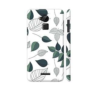 Colorpur Green White Leaves Designer Mobile Phone Case Back Cover For Coolpad Note 3 / Note 3 Plus | Artist: Abhinav