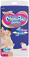 MamyPoko Pants Extra Absorb Diaper Monthly Jumbo Pack, Large, 99 Diapers