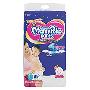 MamyPoko Pants Extra Absorb Diaper, Small (126 Count)
