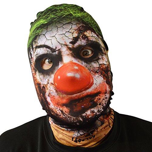 gruselig Halloween Gesichtsmaske Krusty Killer Clown Design Kostüm (Krusty Clown Kostüm)