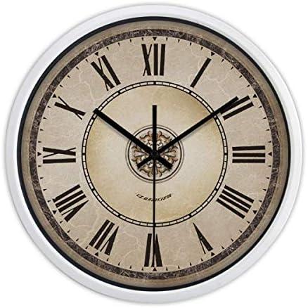 DollylaStore Horloge Murale Style américain créatif rétro Horloge à Quartz en métal muet Salon Chambre Moderne (10 Pouces, 12 Pouces, 14 Pouces Emballage de 1) (Couleur: Noir, Taille: 14 Pouces) | Une Bonne Réputation Da