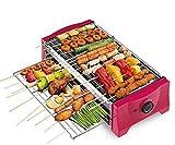 GZ Elektrische Backform Antihaft-Teppanyaki Rauchfreier Grill Startseite Elektrische Grillpfanne Grillmaschine - 2-Schicht-Design,A,1
