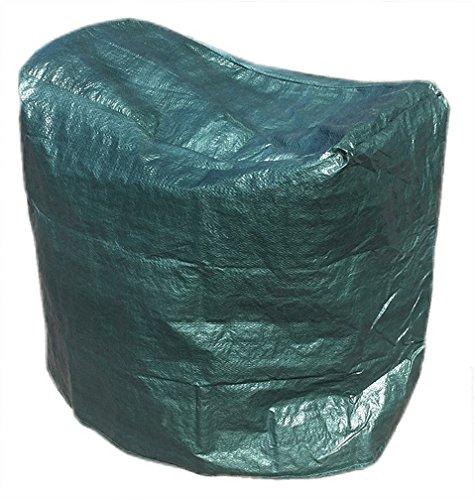 Timtina Schutzhülle Grill 80 x 45 x 80 cm Abdeckung (Grün)