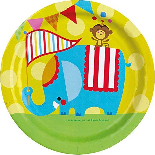 """8 assiettes en carton """"Cirque Fisher-Price"""""""