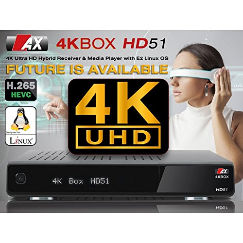 AX Box HD51  UHD 4  K 2160P E2  Linux 2XDVB C T2  Receivers