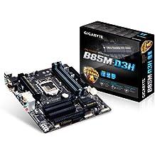 Gigabyte GA-B85M-D3H - Placa base (Socket Intel LGA1150, 4 x DDR3 DIMM hasta 32 GB, Multi-GPU, 6 x SATA, Audio 7.1), Negro