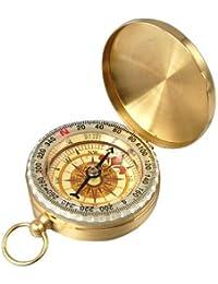 51a98ef6fa3a Aussel tradicional al aire libre Classic latón estilo reloj de bolsillo  brújula para Camping Senderismo