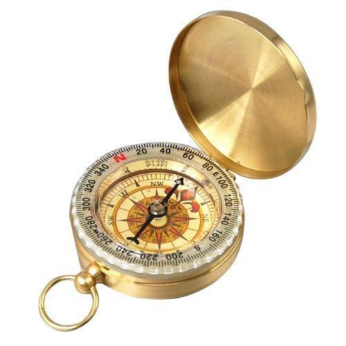 AUSSEL Traditionelles Outdoor Classic Messing Taschenuhr Stil Kompass für Camping/Wandern/Reisen -