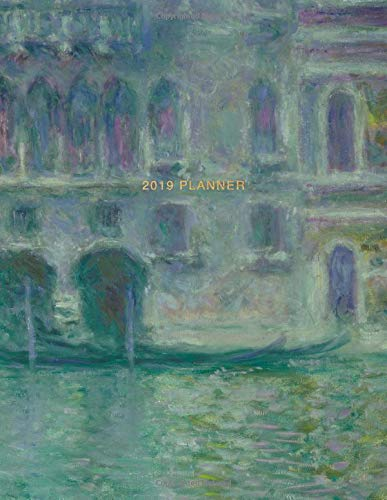 2019 Planner: Claude Monet | Weekly Monthly View Calendar Organiser and Journal with Inspirational Quotes, Goal Trackers + To Do Lists