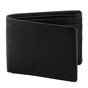 Laurels Men's Wallet Black-WT-01