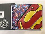 Marvel Comics DC Superhero Batman Superman Series Portefeuille en Cuir Motif Dessin animé Large See Chart1