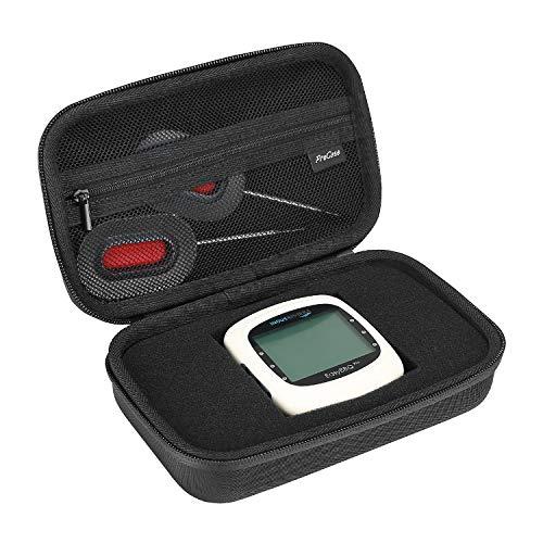 ProCase Hartschalenkoffer für NutriChef Smart Wireless BBQ Grill Thermometer, mit Netztasche für Zubehör -Schwarz