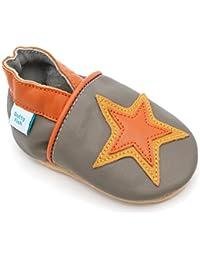 Dotty Fish–Chaussures en cuir première enfance–Garçons et filles–Étoilées