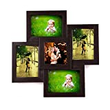 #2: WENS 5-Picture MDF Photo Frame (17 inch x 17 inch, Brown)