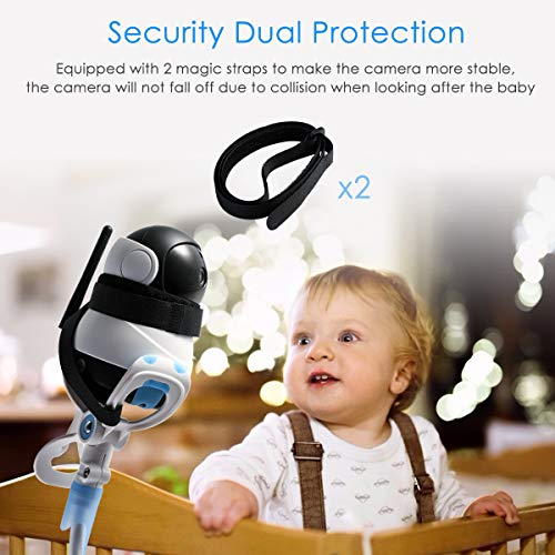 Universal Baby Camera Mount Holder, Infant Toddler Video Monitor Holder and Shelf- Adjustable Flexible Camera Stand for Nursery Compatible with Most Baby Monitors