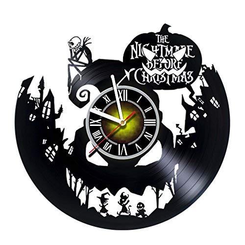hr aus Vinyl, Motiv Nightmare Before Christmas, für Kinder, Erwachsene, Männer und Frauen - Jack and Sally - Horror-Dekorationen, einzigartiges Kunst-Design - Poster ()