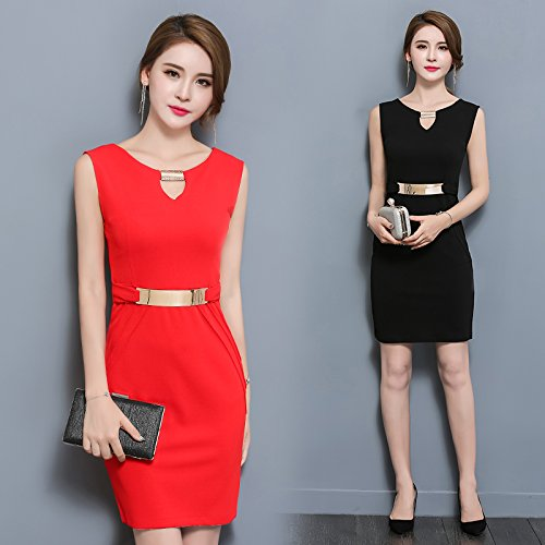 GAOLIM Spring Girls V-Neck Sleeveless Dress Package And A Large Number Of Ladies' Dress Career Dress