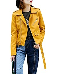 the latest da81e a980a Amazon.it: giacca pelle - Giallo / Donna: Abbigliamento