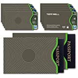 Tenn Well Secure Sleeve -RFID Blocking Sleeves Credit Card Debit Card ID & Passport Protector(10 Credit Card Sleeves & 2 Passport Sleeves)
