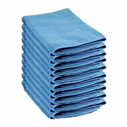 Lint Free Microfibre Exel Super Magic Cleaning Cloths For Polishing, Washing, Waxing And Dusting. Cleaning Accessories, Blue (Pack of