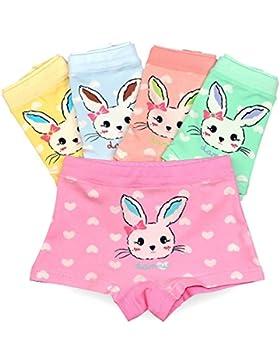 Espoy Mädchen Unterhose Unterwäsche Slips Set Hase Muster Kinder-Unterwäsche Baumwolle 1-8 Jahre 86-134 10er Pack