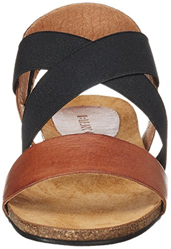 BIANCO - Elastic Cross Sandal Jfm17, Sandali Donna Marrone (Light Brown)
