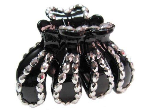 rougecaramel - Accessoires cheveux - Pince crabe acrylique - argenté