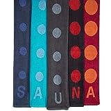 Point Saunatuch / Badetuch | viele Farben wählbar | 80 x 200 cm Baumwolle Frottee Handtuch | aqua-textil 0010684 türkis - 5