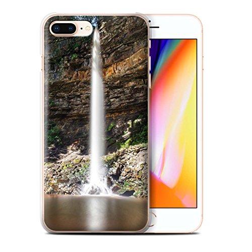 Stuff4 Hülle / Case für Apple iPhone 8 Plus / Felsigen Stream Muster / Wasserfälle Kollektion Hoch/Felsen