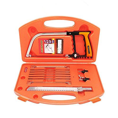 6 Tool-kit (Magie Handsäge Set, YOCZOX Bügelsäge, Hacksäge, Universal Handsäge, Metallsäge, Mehrzweck DIY Tools Kit, mit 6 HSS Sägeblätter, Ideal für Handwerk, Holz, Fliese Glas, Metall, Plastik, Keramik. 14-in-1)