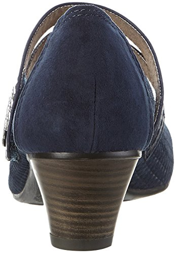 Jana Damen 24331 Mary Jane Halbschuhe Blau (NAVY 805)