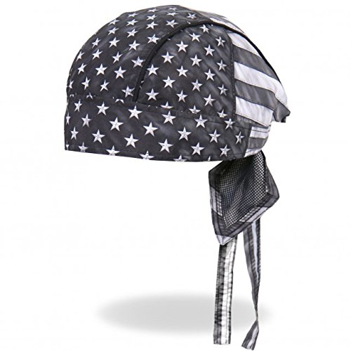 Authentic Bikers Premium Headwraps, GRAY FLAG - High Quality Micro-Fiber HEADWRAP