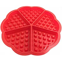 DTOL Bakeware High Quality Silicone Waffle Baking Molds Mini Heart Waffle Mold Muffin Mould