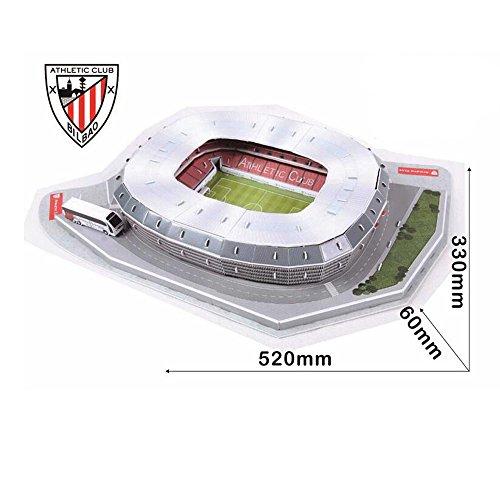Xueyanwei World Cup Assemblare Puzzle San Mamés Stadio Puzzle Spagna 3D Campo Di Calcio Modello Di Calcio Fans Memorabilia Regalo Giocattoli
