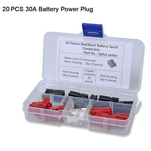 20pcs 30A-Verbindung mit Netzkabel Stecker Auto KFZ-Quik-30Ampere-Stecker mit Trolley-Trailer, RV Rv Trailer-batterien