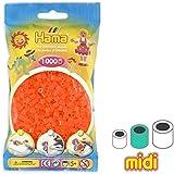 Cuentas Hama Beads MIDI 5 mm Naranja Fluorescente (n°38) x1000