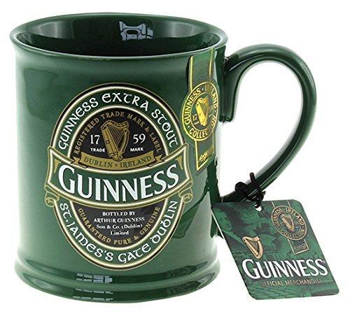 Tazza guinness beer boccale ceramica verde *03433 gadget idea regalo birra