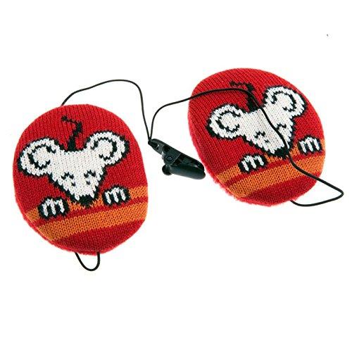 Earbags Kinder Ohrenwärmer Ohrenschützer Mütze Mit Clip Schnur Stirnband Warme Ohren Original, 824, Farbe Kindermaus rot, Größe S