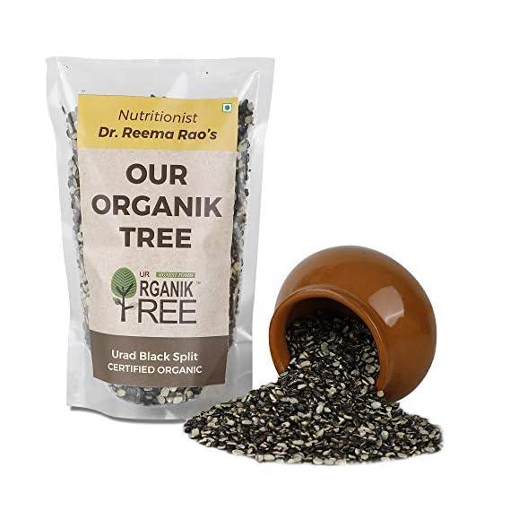 Our Organik Tree Organic Split Black Urad Dal (450 Gms)