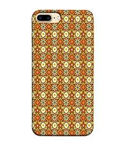 FUSON Designer Back Case Cover for Apple iPhone 7 Plus (Seamless Pattern Blue Design Drawing )